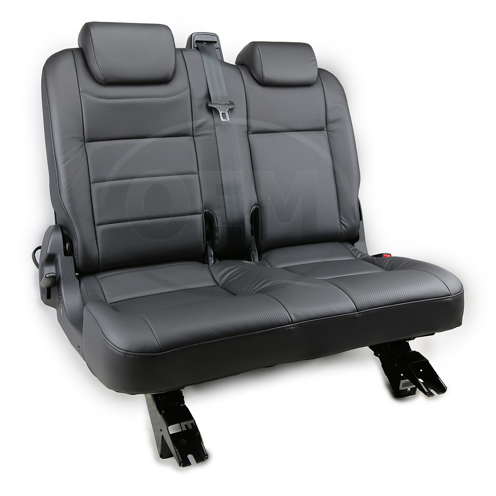 LAND ROVER DEFENDER PUMA TD4 FRONT SEAT COVERS SET OF 2 BLACK